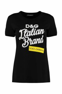 Dolce & Gabbana Logo Print Cotton T-shirt