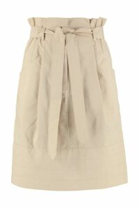 Weekend Max Mara Folgore Belted Cotton Skirt