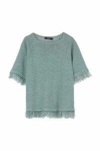 Weekend Max Mara Cimone Fringed Knitted T-shirt