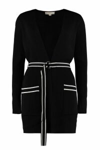 Michael Kors Belted Ribbed Cardigan