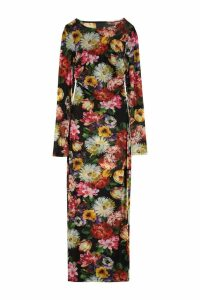 Dolce & Gabbana Printed Jersey Long Dress