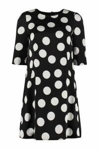 Dolce & Gabbana Polka-dot Print Silk Mini Dress
