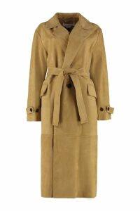 Golden Goose Elle Suede Trench Coat