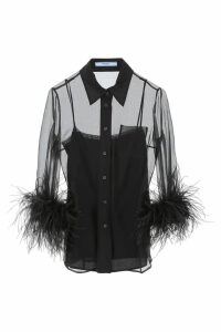 Prada Shirt With Feathers
