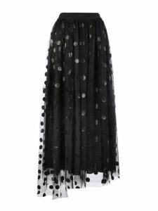MSGM Long Pois Tulle Skirt