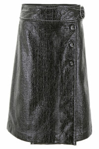 Marni Shiny Faux Leather Skirt