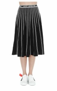Off-white Knit Plisse Skirt