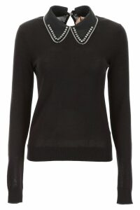 N.21 Knit Pull With Crystal Collar