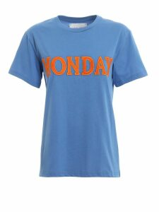 Alberta Ferretti Rainbow Week Monday Blue T-shirt J07081672297