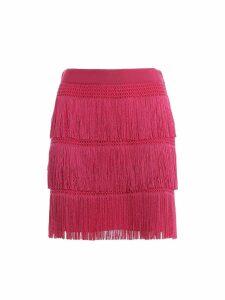 Alberta Ferretti Charleston Style Fringed Mini Skirt J01251616217