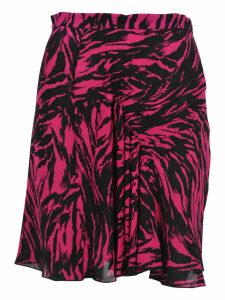 N21 Zebra Print Mini Skirt