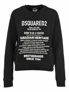 D Squared Brand Description Print Sweatshirt