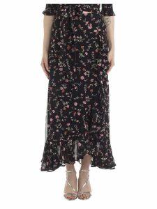 Ganni Ganni Floral Print Draped Skirt