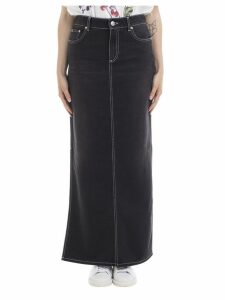 Ganni Ganni Washed Denim Skirt