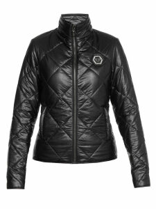 Philipp Plein Quilted Coat With Logo