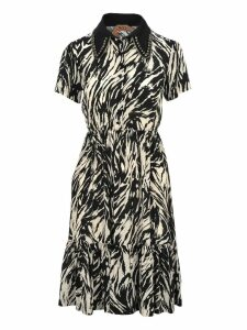 N21 Crystals Embellished Zebra Dress