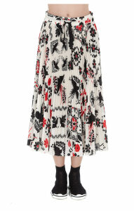 Red Valentino Plissé Skirt