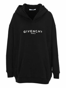 Givenchy Oversized Logo Print Hoodie