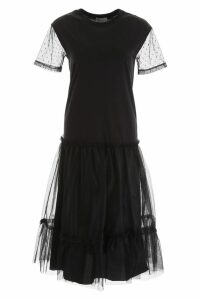 RED Valentino Midi Dress With Plumetis Details