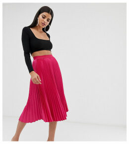 Outrageous Fortune Tall midi skater skirt in hot pink