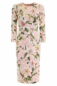 Dolce & Gabbana Lily Print Cady Dress