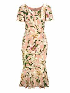 Dolce & gabbana Lilium Print Dress