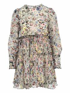 Ganni Floral Print Ruffled Mini Dress