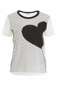 RED Valentino Plumetis T-shirt With Heart