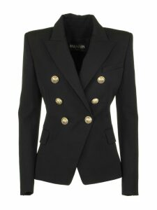 Balmain Double-breasted Black Wool Blazer