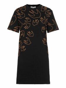 McQ Alexander McQueen Swallow Swarm Embrioideries Dress