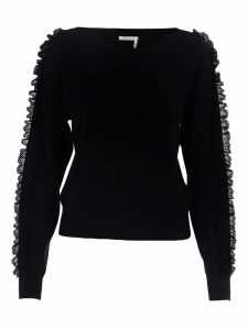 See By Chloe Lace Details Sweater