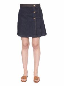 Tory Burch Denim Short Skirt
