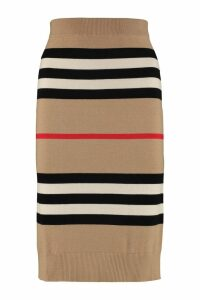Burberry Striped Knit Pencil Skirt