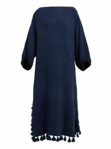 Rhode - Delilah Pom Pom Cotton Dress - Womens - Navy