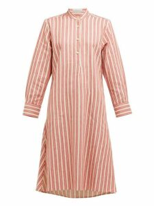 Palmer//harding - Alexandria Striped Cotton Blend Kaftan - Womens - Red Stripe