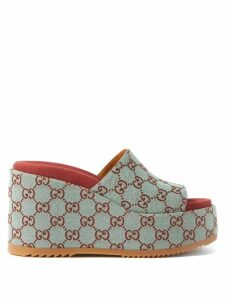 Loup Charmant - Floral Print Organic Cotton Mini Dress - Womens - Green