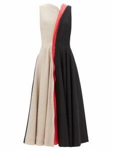 Dodo Bar Or - Dorothy Tiered Floral Print Cotton Maxi Dress - Womens - Burgundy Print