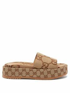 La Doublej - Fancy Ruffle Trimmed Silk Dress - Womens - Multi