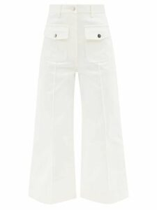Muzungu Sisters - Lily Embroidered Geometric Print Cotton Dress - Womens - Pink Multi