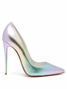 Le Sirenuse, Positano - Jane High Rise Embroidered Cotton Poplin Skirt - Womens - Black