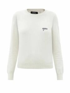 Zimmermann - Allia Floral Cross-stitch Linen-blend Mini Dress - Womens - Black