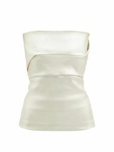 Gioia Bini - Camilla Ruffle Trim Linen Dress - Womens - Yellow Multi