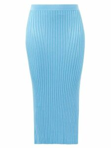 Le Sirenuse, Positano - Emma Abstract Print Cropped Cotton Shirt - Womens - Blue Multi