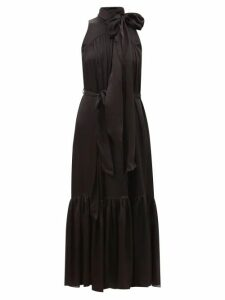 Belize - Lara Ruffled Linen Midi Skirt - Womens - Light Brown