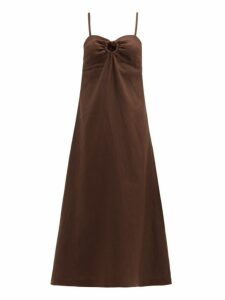 Belize - Hiva Tie Back Linen Dress - Womens - Brown
