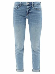 Belize - Luna Cut Out Linen Mini Dress - Womens - Denim