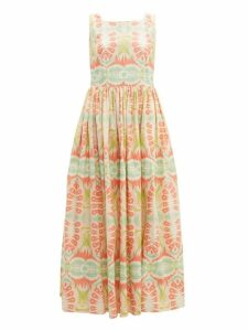 Le Sirenuse, Positano - Julia Print Cotton Poplin Dress - Womens - Pink Multi
