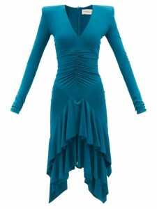 Luisa Beccaria - Square Neck Lace Trim Cotton Dress - Womens - Pink
