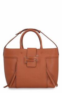 Tods Double T Leather Tote