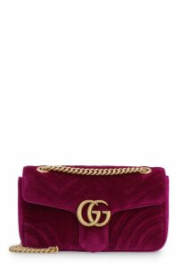 Gucci Marmont Quilted Velvet Shoulder Bag